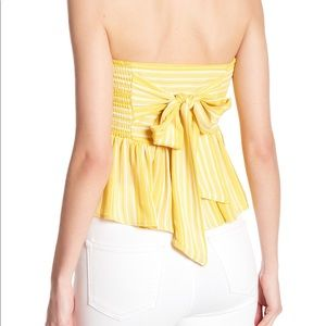 Good Luck Gem Smocked Tube Top with Tie Back